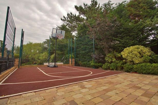 Basketball court in the garden