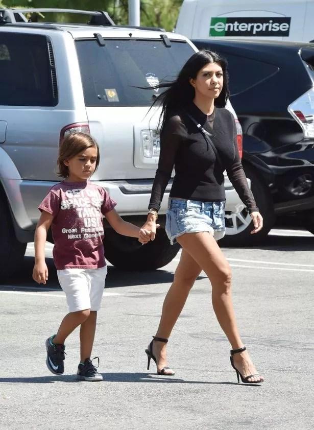 Kourtney Kardashian takes Mason shopping with grandma Kris