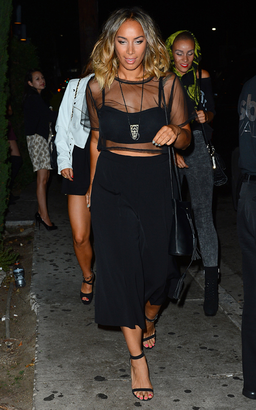 Leona Lewis Leaves a Party at Graystone Manor