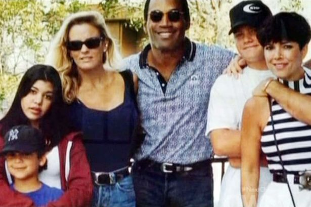 Kris Jenner with OJ Simpson and Nicole Simpson Brown