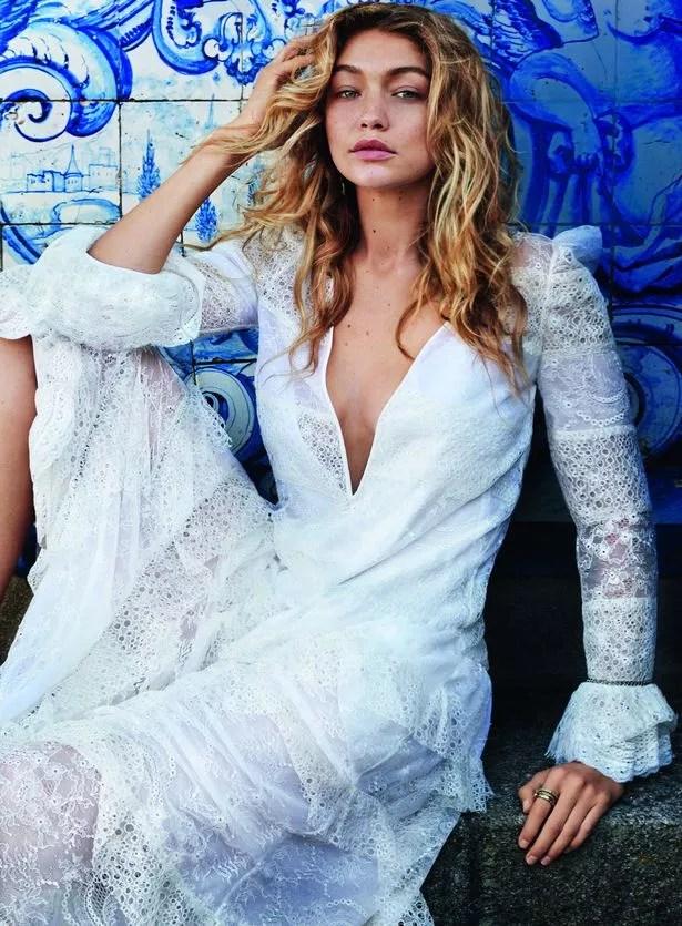 Gigi Hadid in Givenchy by Riccardo Tisci dress
