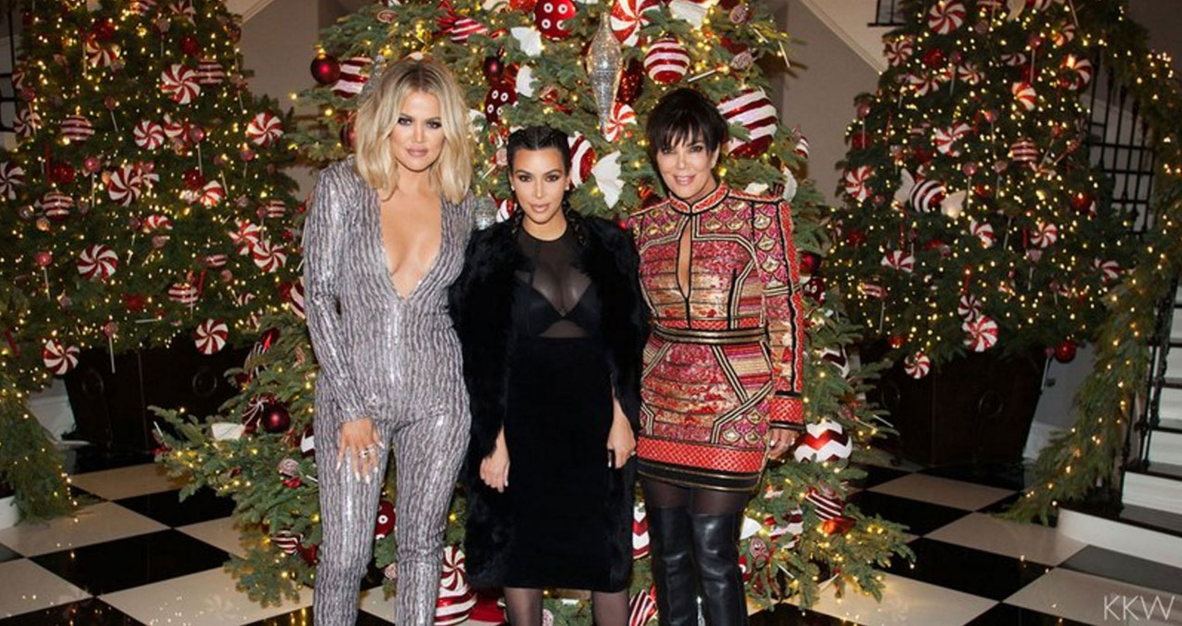 Inside the Kardashian Christmas party, as Kim reveals post-baby ...