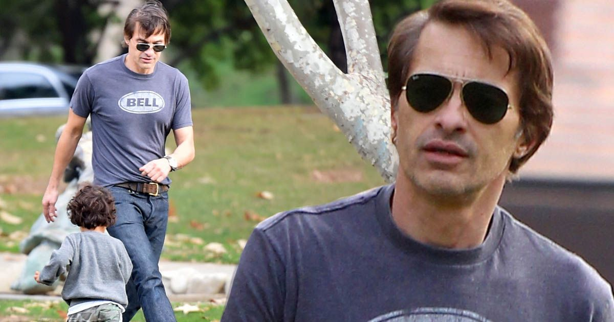 Olivier Martinez Shows Off His Dad Skills After Split From