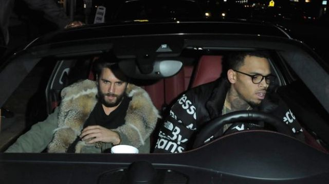 Chris Brown And Scott Disick Party At The Ace Of Diamonds Strip Club in Hollywood