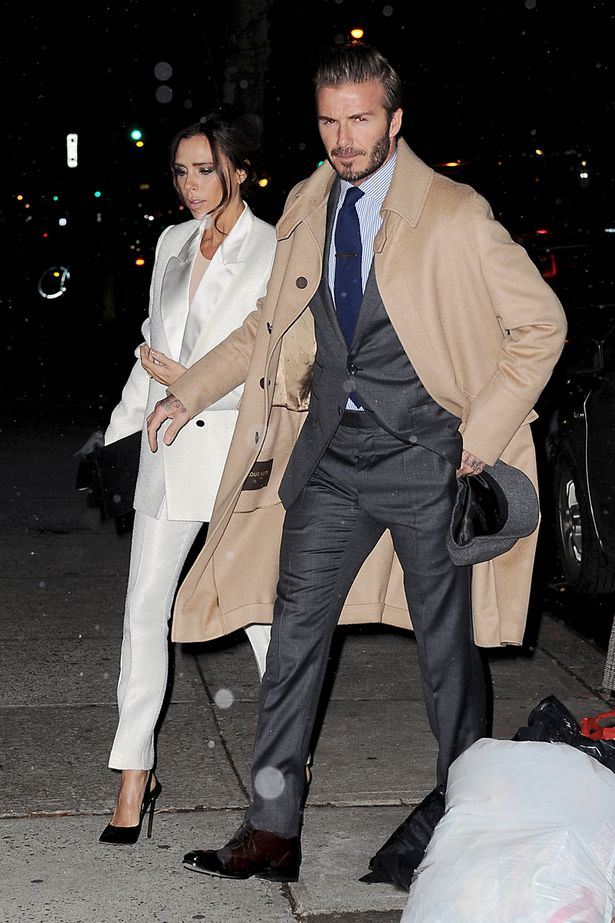 David And Victoria Beckham Make A Stylish Duo For Dinner