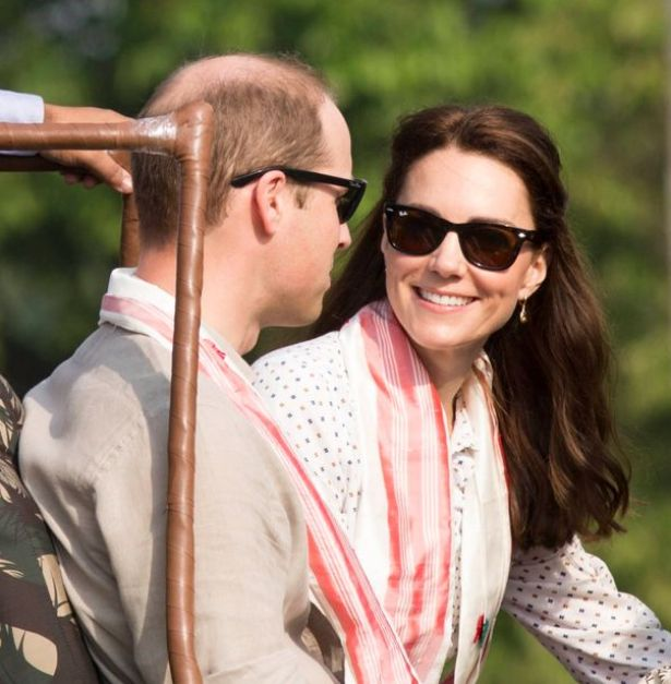 William and Kate wore his and hers Ray-Bans
