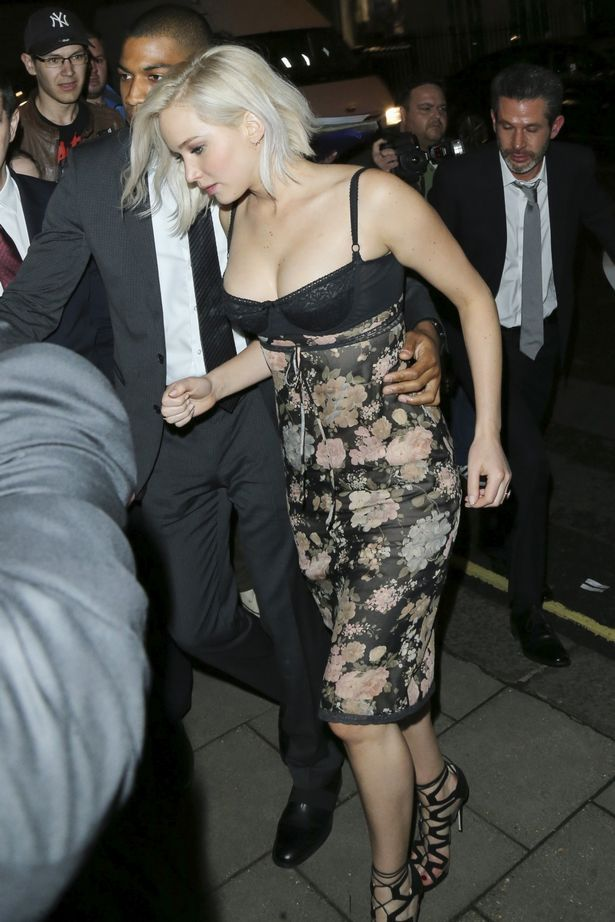Jennifer Lawrence arrives at Tape Nightclub in London