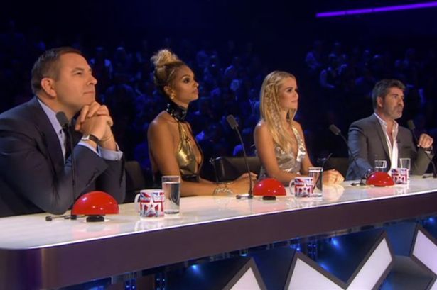 The judges watch on as Wayne Woodward and Alex Magala reach the final of Britain's Got Talent