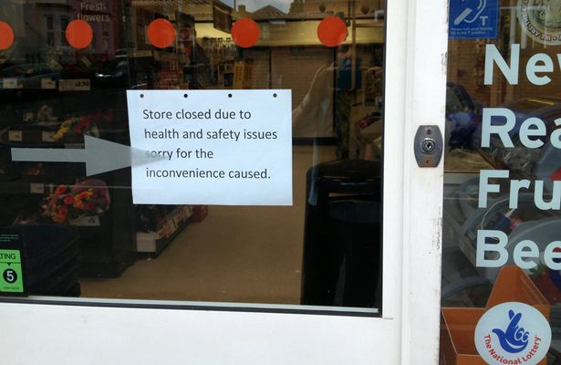 The local Sainsbury's store which is closed due to the fly infestation