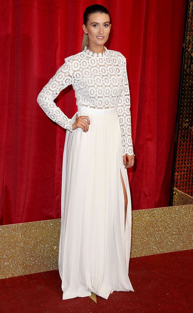 Charley Webb attends the British Soap Awards 2016