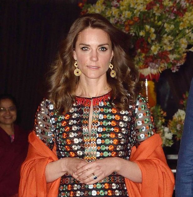 Kate Middleton wore striking earrings with her Tory Burch dress