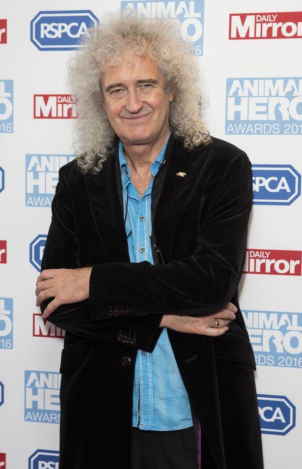 Brian May arrives for Daily Mirror and RSPCA Animal Hero Awards at Grosvenor House, on September 7, 2016 in London, England
