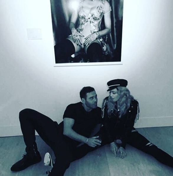 Madonna at Mert Alas and Marcus Piggott Exhibtion