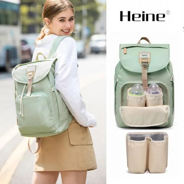【Heine 海恩】WIN-212 後背包 媽媽包 媽咪包 防盜防潑水 背包 女包 包包 束口包 果綠(收納 旅行包 贈掛勾)