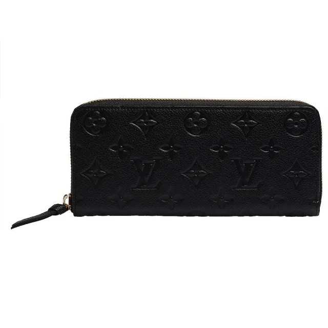 【Louis Vuitton 路易威登】M60171 Monogram Empreinte CLEMENCE小牛皮拉鍊長夾(黑)