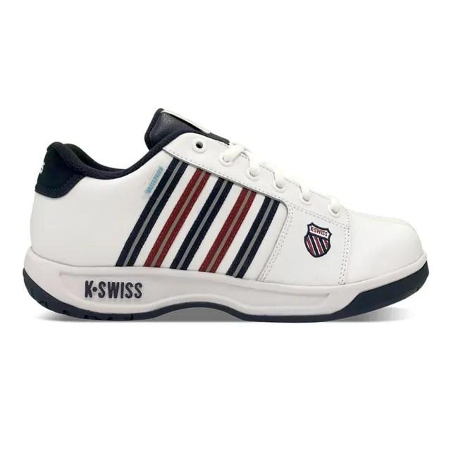 【K-SWISS】防水老爹鞋 Eadall WP 男 白 藍 紅(06781113)