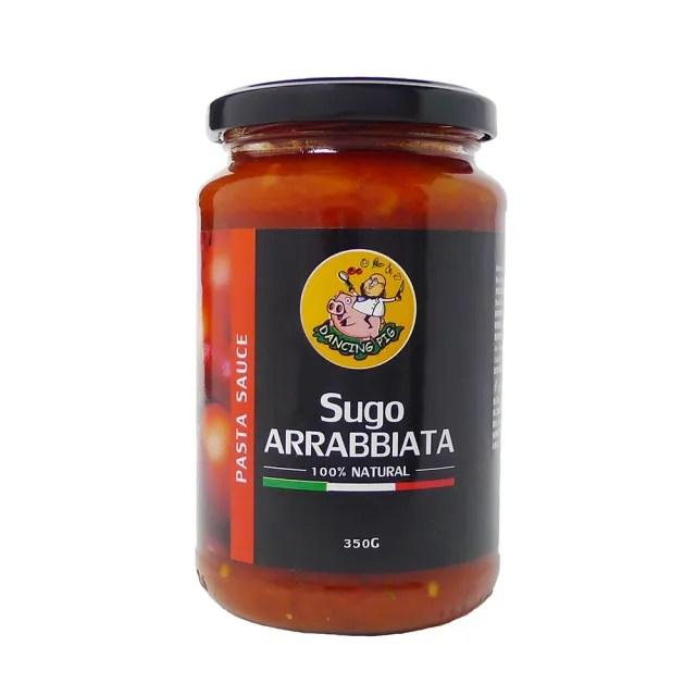 【豬跳舞】辣味番茄麵醬 義大利麵醬  350g X12罐(義式紅醬/義式番茄醬)