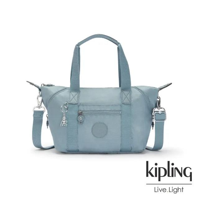【KIPLING】寧靜海洋藍手提側背包-ART MINI