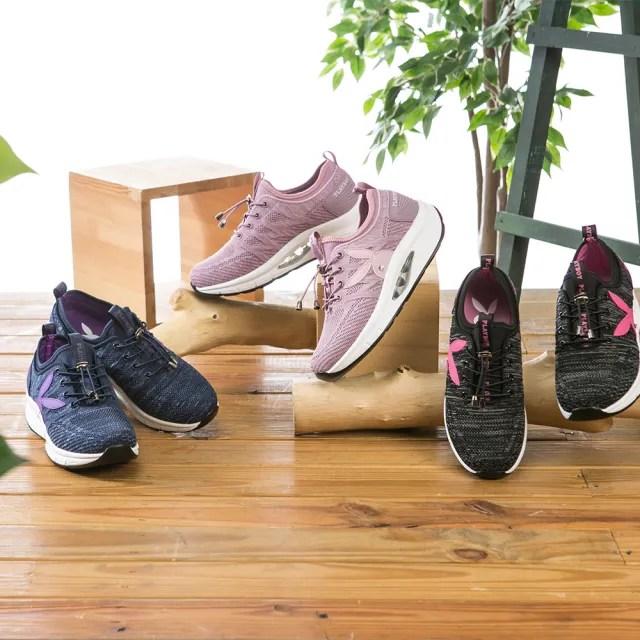 美國PLAYBOY閃鑽飛織專利足弓氣墊鞋