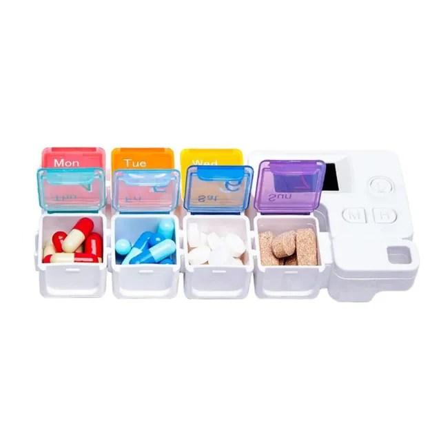 【FJ】智能電子定時提醒藥盒AC7(長期用藥必備)