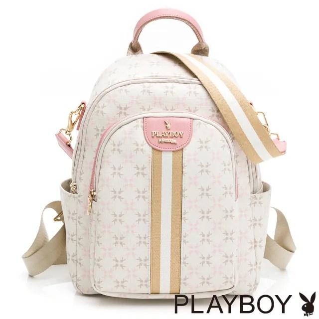 【PLAYBOY】後背包 Honey peach系列(白色)