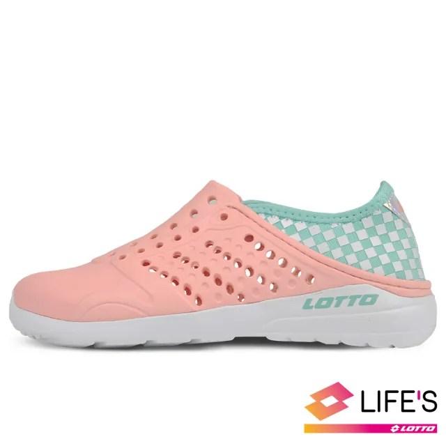 【LOTTO】運動鞋 兒童鞋 潮流洞洞鞋(橘-LT0AKS2602)
