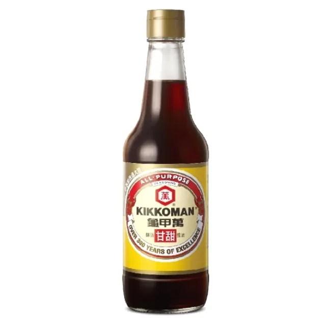 【龜甲萬】龜甲萬甘甜醬油500ml/罐(非基因改造大豆)