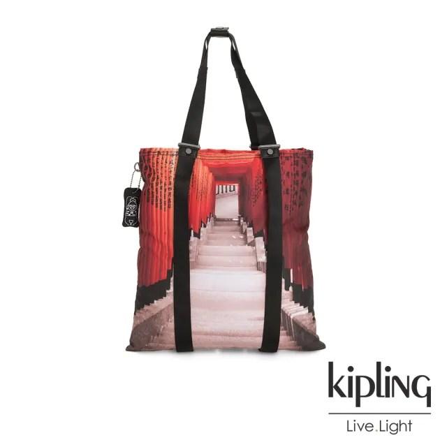 【KIPLING】京都伏見稻荷大容量手提帆布包-LOVILIA