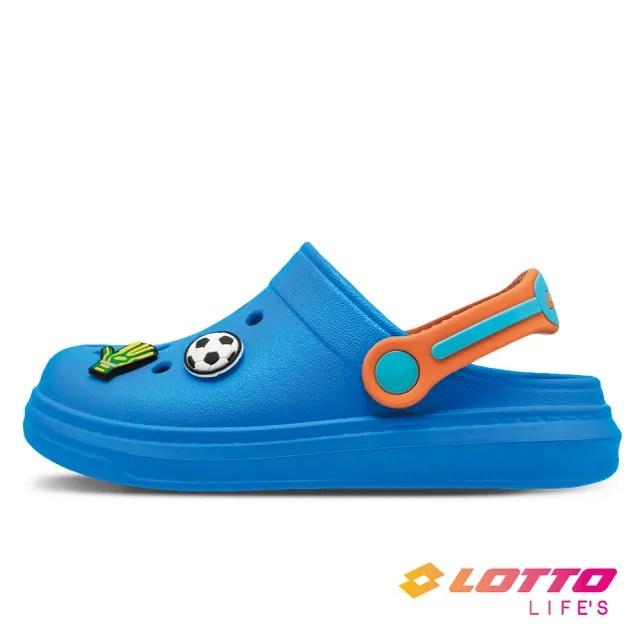 【LOTTO】運動鞋 兒童鞋 FANO 輕涼拖鞋(藍-LT1AKS3086)
