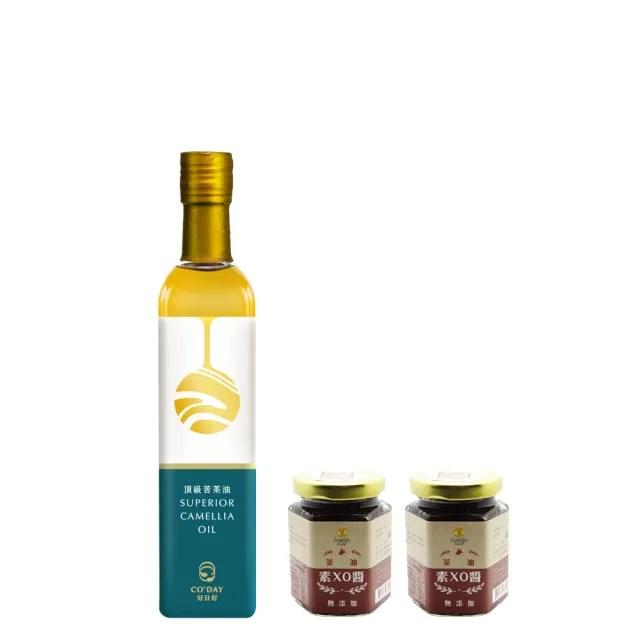 【梅山茶油合作社】梅山頂級苦茶油+苦茶油素XO醬2入組