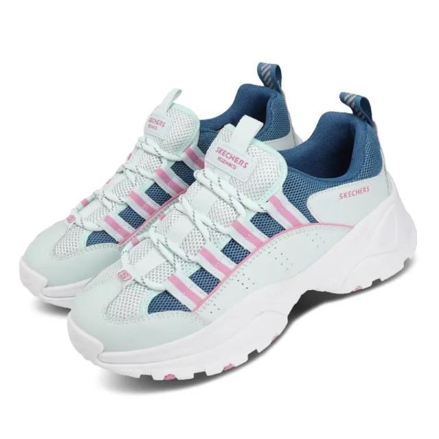 【SKECHERS】休閒鞋 Kozmiks 1.0 老爹鞋 女鞋 厚底 增高 修飾 避震 緩衝 支撐 綠 粉(88888409AQUA)