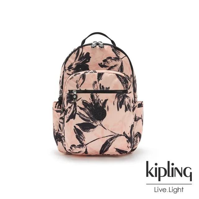 【KIPLING】珊瑚花潑墨機能手提後背包-SEOUL