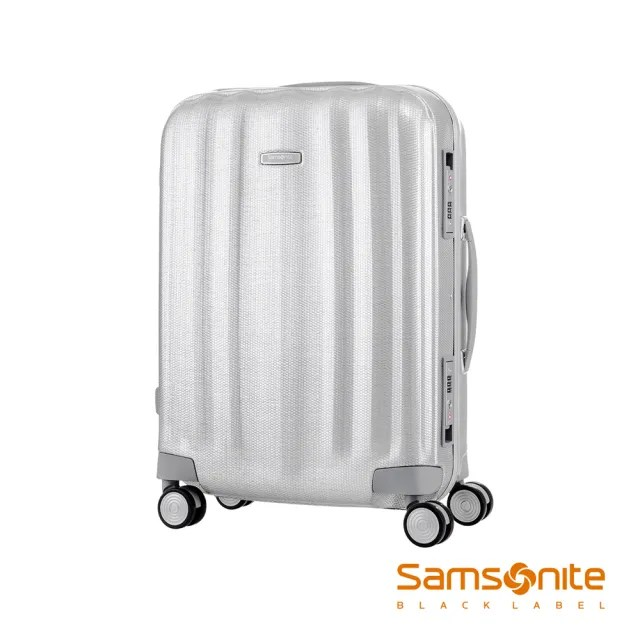 【Samsonite 新秀麗】黑標20吋Lite-Cube高質感耐衝擊Curv鋁框登機箱 鋁銀(DV8)