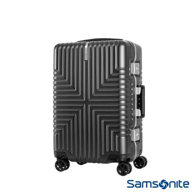 【Samsonite 新秀麗】20吋Intersect 高質感PC鋁框硬殼TSA行李箱 黑(GV5)