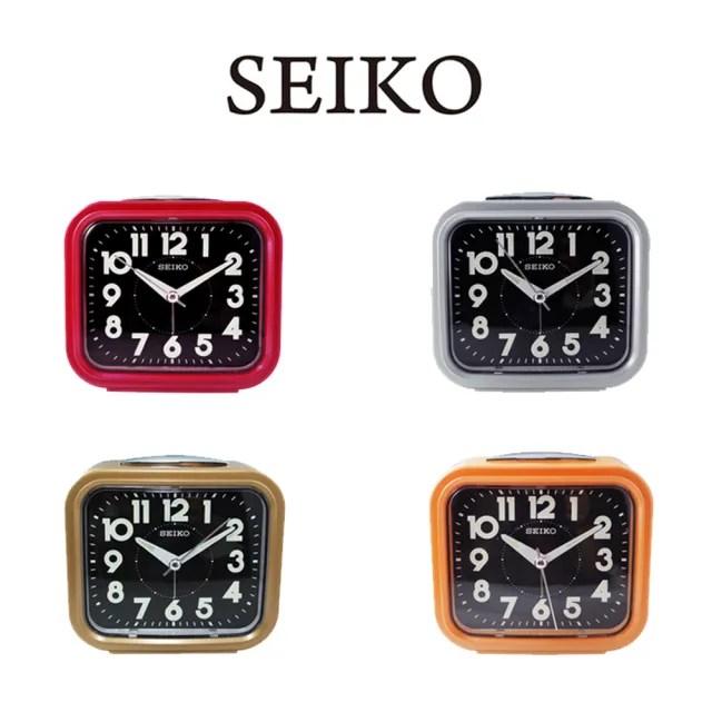 【SEIKO 精工】QHK023流線方型靜音夜光貪睡鬧鐘