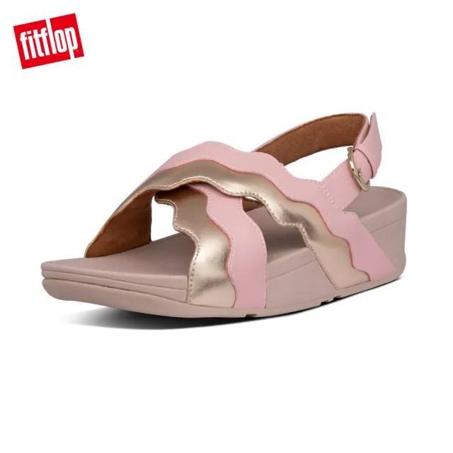 【FitFlop】RHYLEE WAVE STRAP BACK-STRAP SANDALS 波浪造型可調式後帶涼鞋-女(柔和粉)