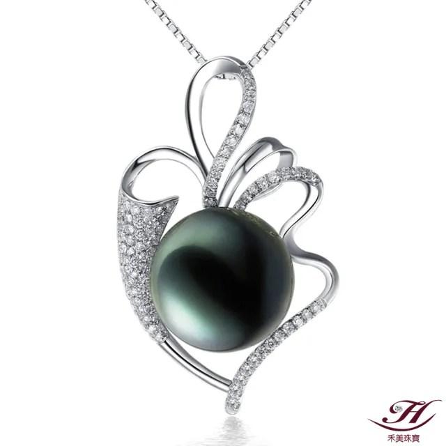【禾美珠寶】天然南洋黑珍珠項鍊FF131(18K金)