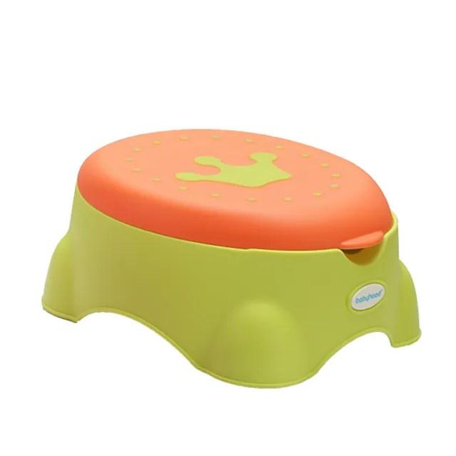 【babyhood】皇室多功能學習便器 綠色(輔助便座 止滑板凳 收納箱)
