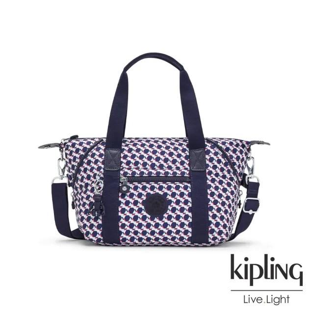 【KIPLING】典雅幾何印花手提側背包-ART MINI