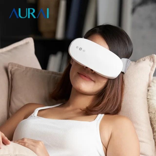 【歐萊依 Aurai】Aurai 即熱敷水波式按摩眼罩(眼部熱敷推薦)