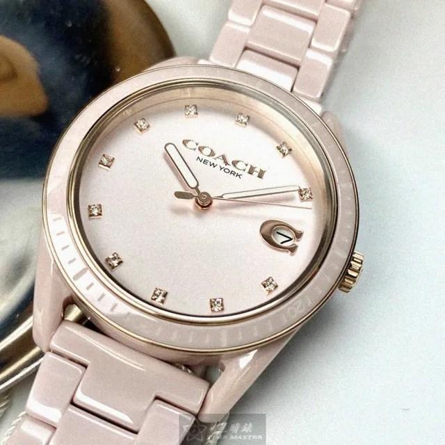 【COACH】COACH蔻馳女錶型號CH00022(粉色錶面粉色錶殼粉紅陶瓷錶帶款)
