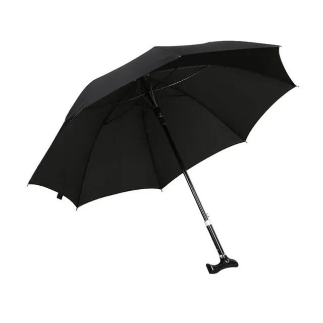 【PUSH!】戶外用品可調節長短雨傘拐杖傘登山杖(加固型I74)
