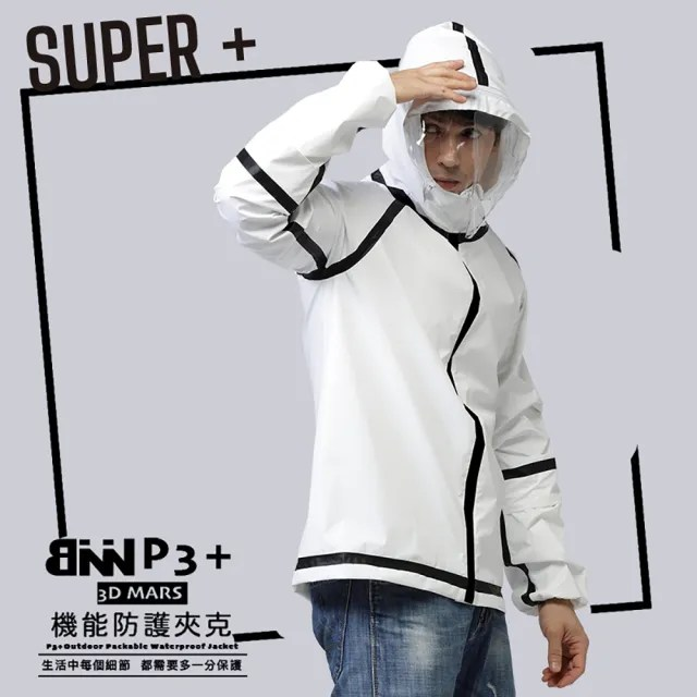 【BNN斌瀛】SUPER P3+ 防疫防飛沫機能防護衣夾克外套(限量現貨)