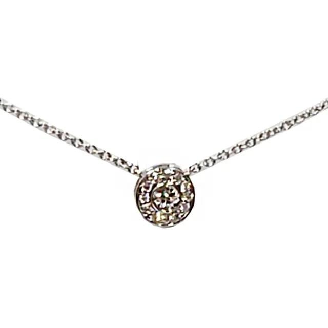 【Tiffany&Co. 蒂芙尼】經典SOLESTE系列切割真鑽鑲嵌墜飾鉑金項鍊(銀色)