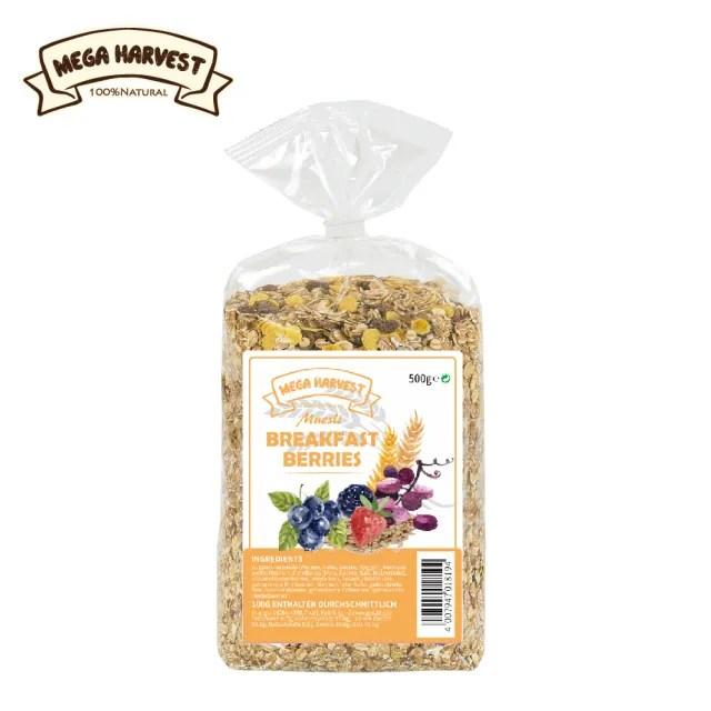 【Mega Harvest】德國天然早餐莓果穀片500gX1包