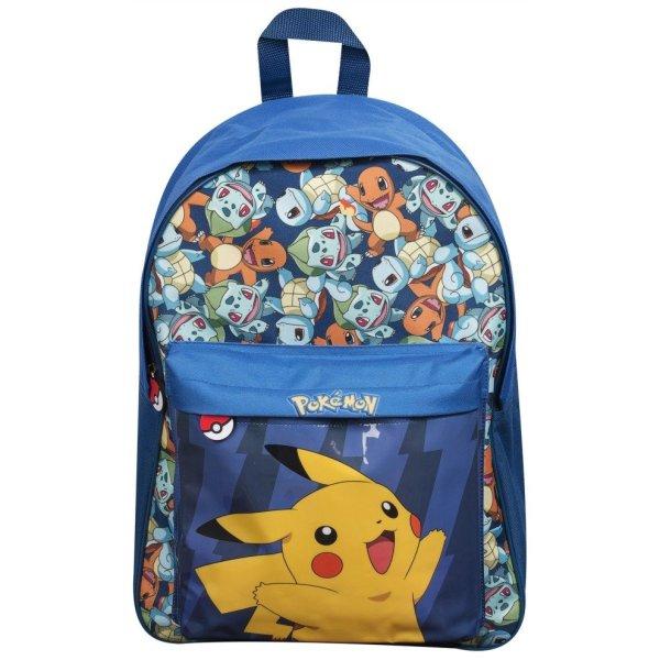 "Pokmon Pikachu Blue Backpack 17"""