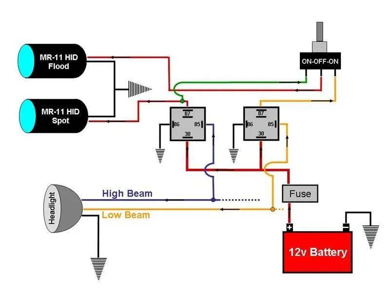 Wiring Diagram Hella Driving Lights : Wiring diagram for hella lights k