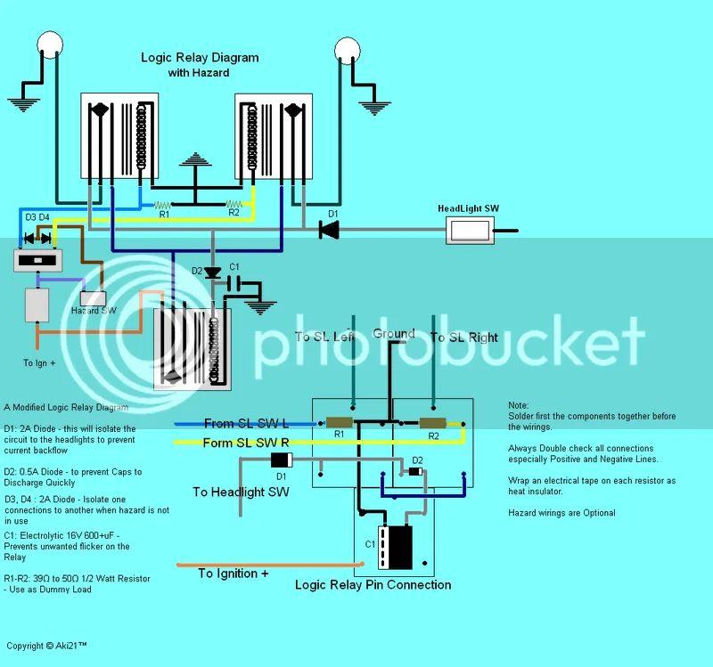 motorcycle hazard wiring diagram