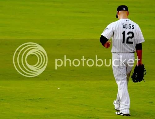 Cody Ross in center field