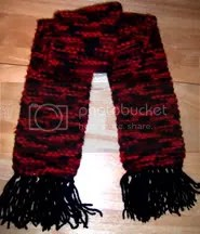 my first red scarf